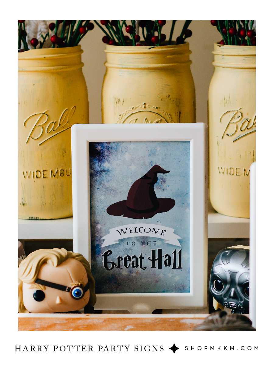 Harry Potter party signs free printables from shopmkkm.com