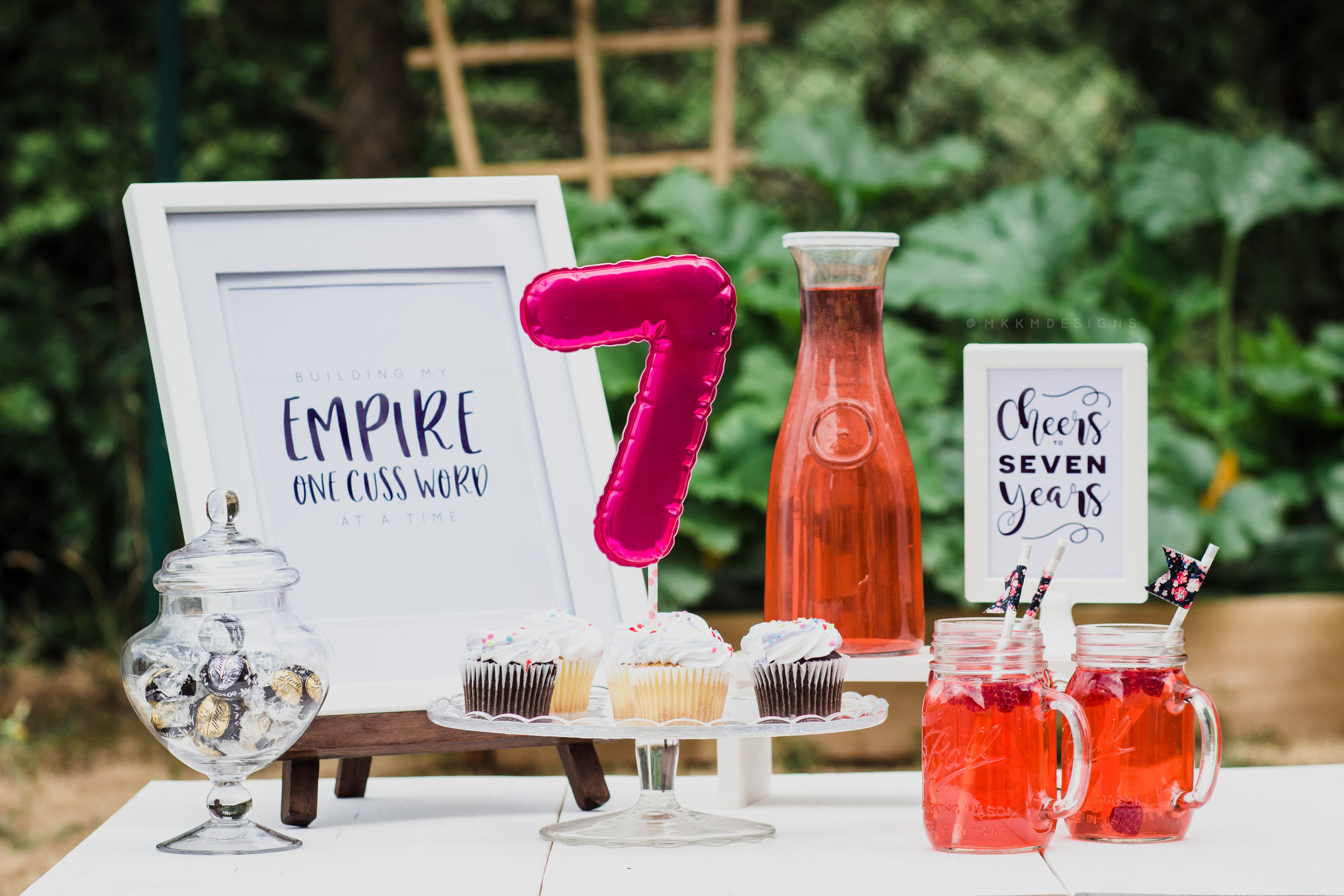 Cheers to Seven Years // Reflecting on 7 years of being a small business owner. Grab the signs freebie on the blog // mkkmdesigns