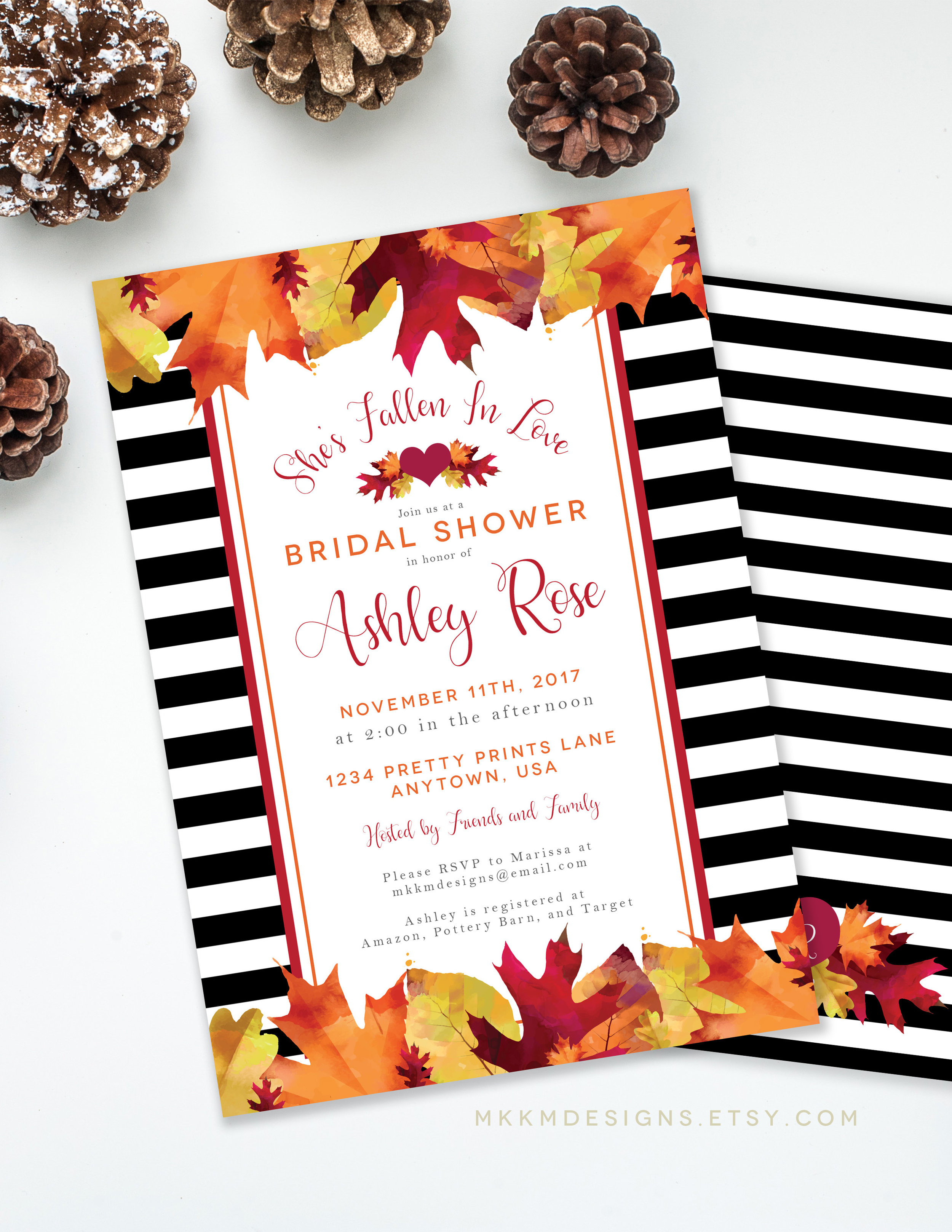 Fall Bridal Shower Invitation