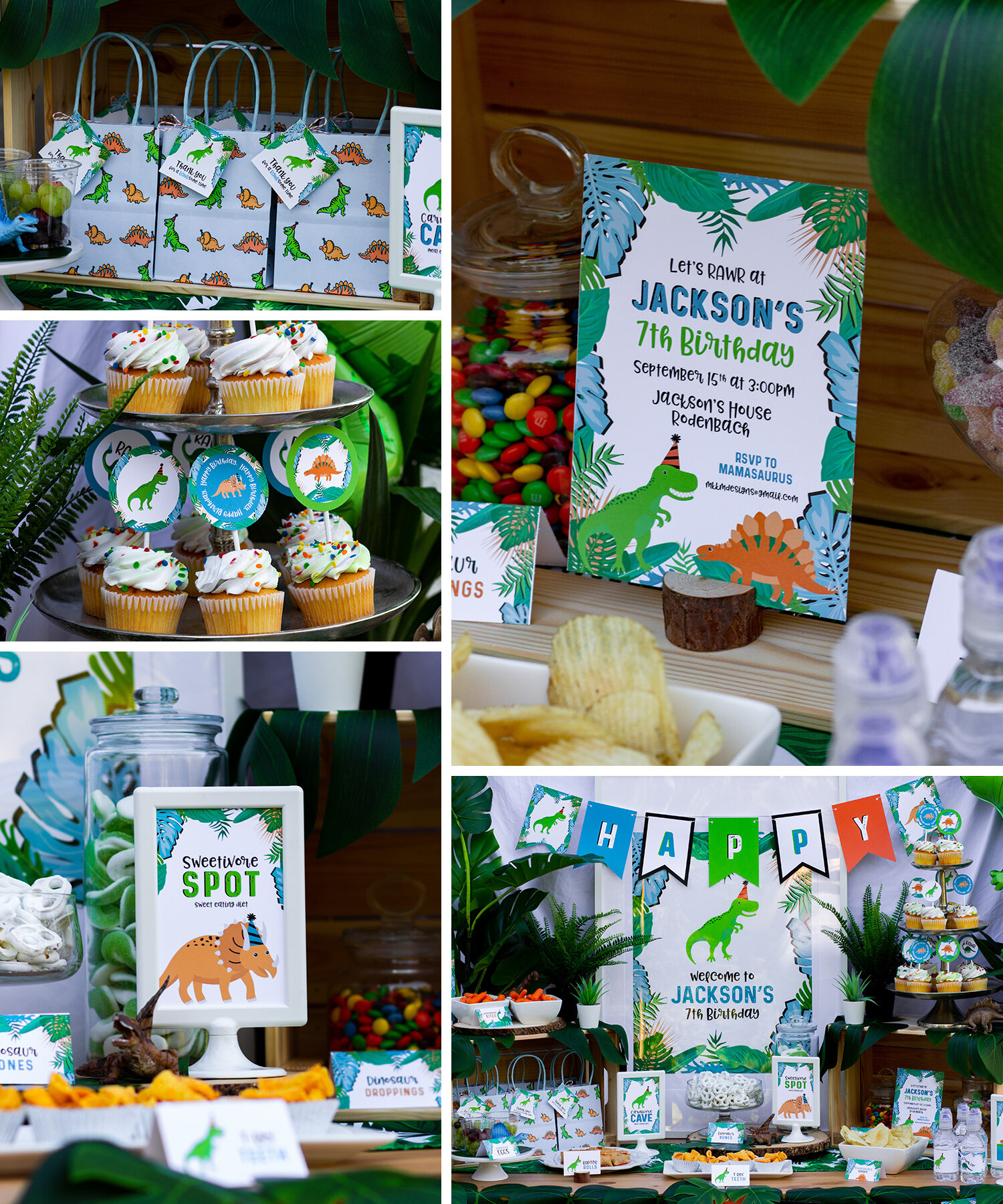 Tropical Dinosaur Party from MKKMDesigns