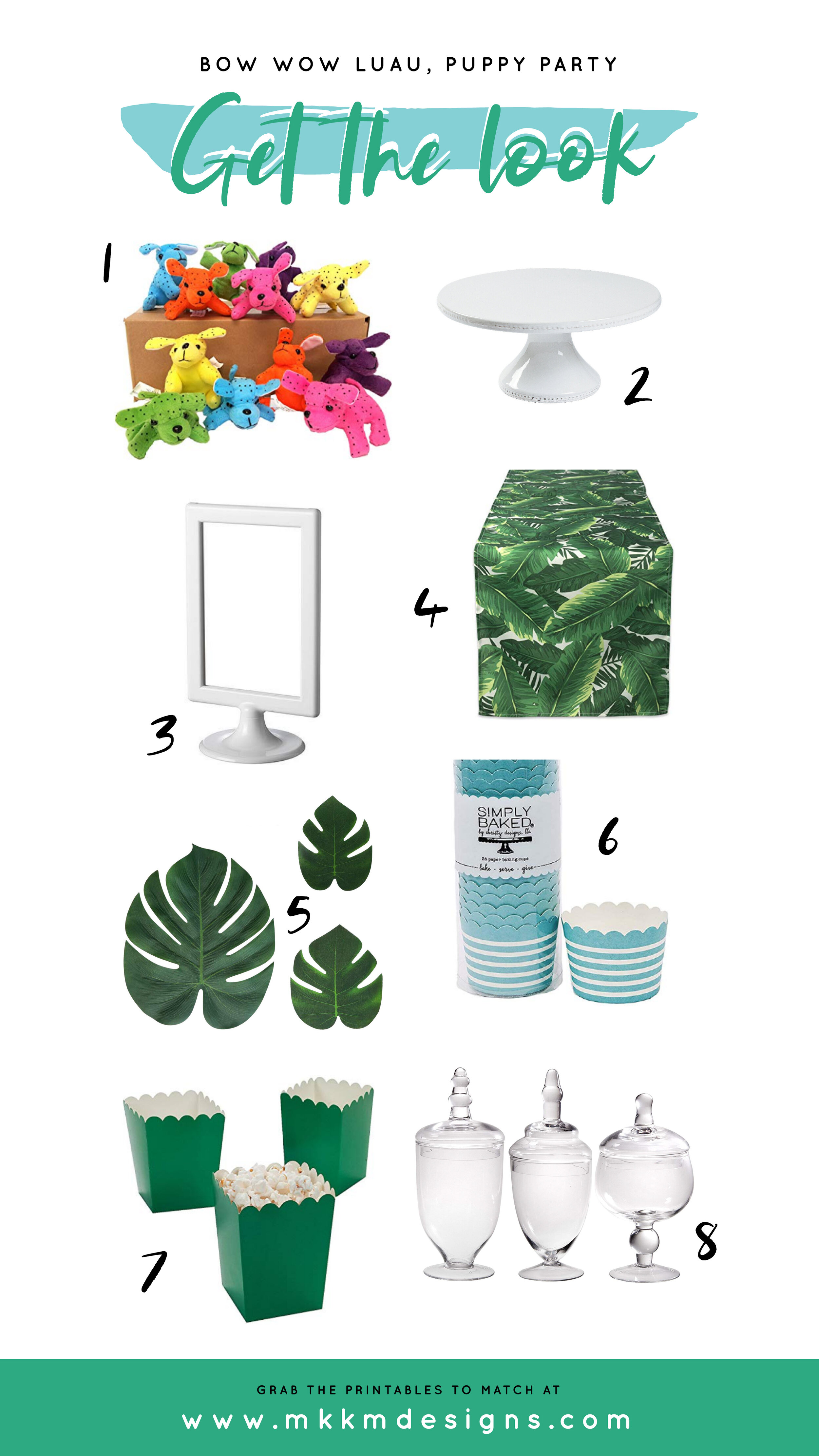Get the Look from our Tropical Puppy Party. Shop our affiliate links.