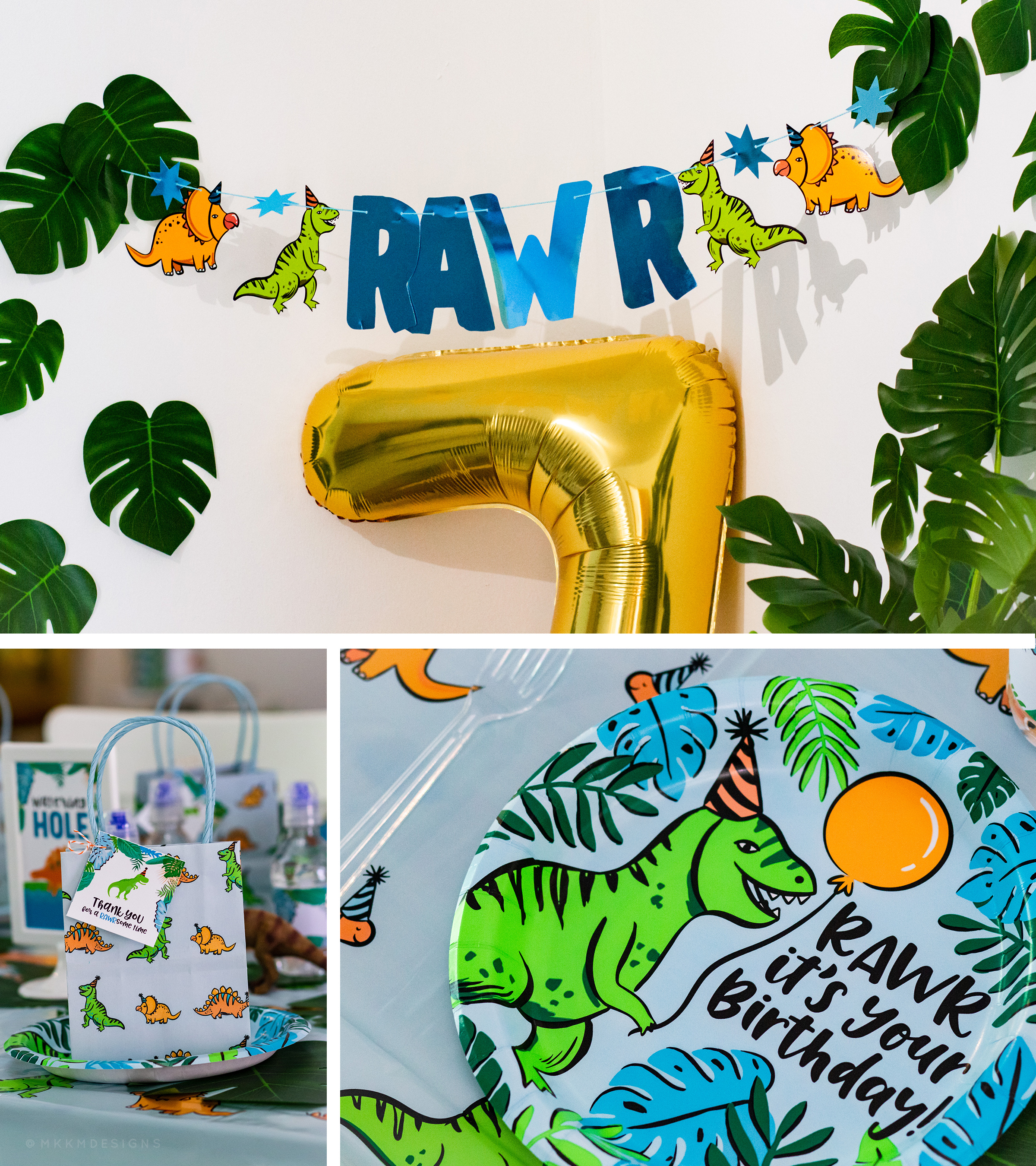 These Target party supplies matched perfectly with our Tropical dinosaur party. Get some inspiration for planning your own dinosaur party from our blog.