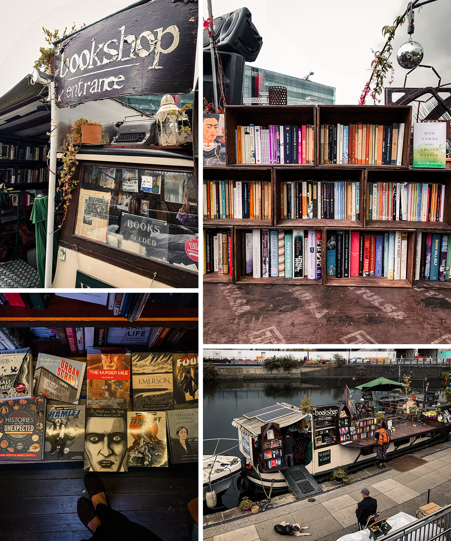 Word on the water is a charming little book barge located in the Kings Cross area of London. // mkkmdesigns