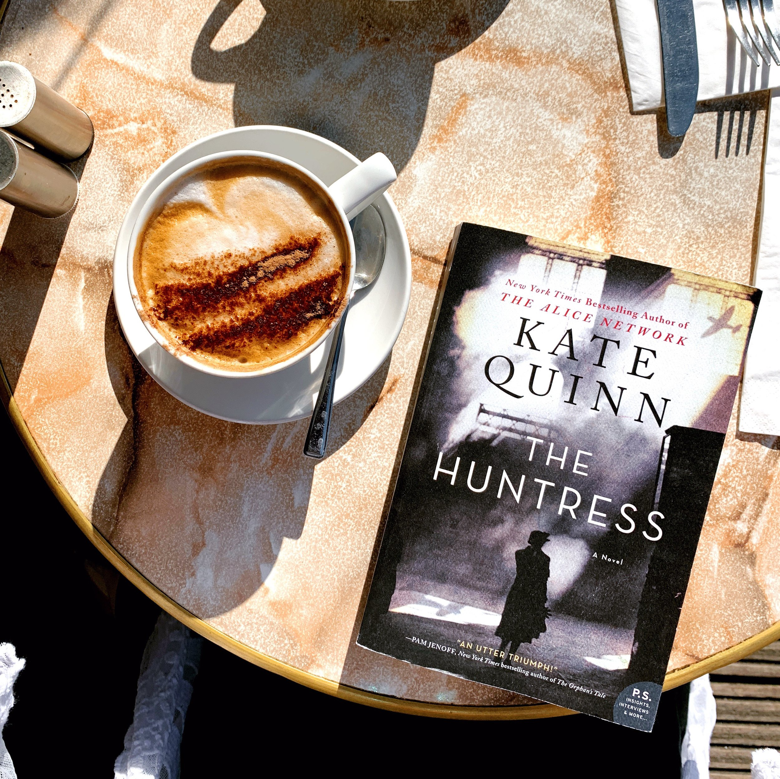 Currently reading The Huntress by Kate Quinn. Alice Network is one of my favorite books, so this was next on the list #mkbookclub #currentlyreading