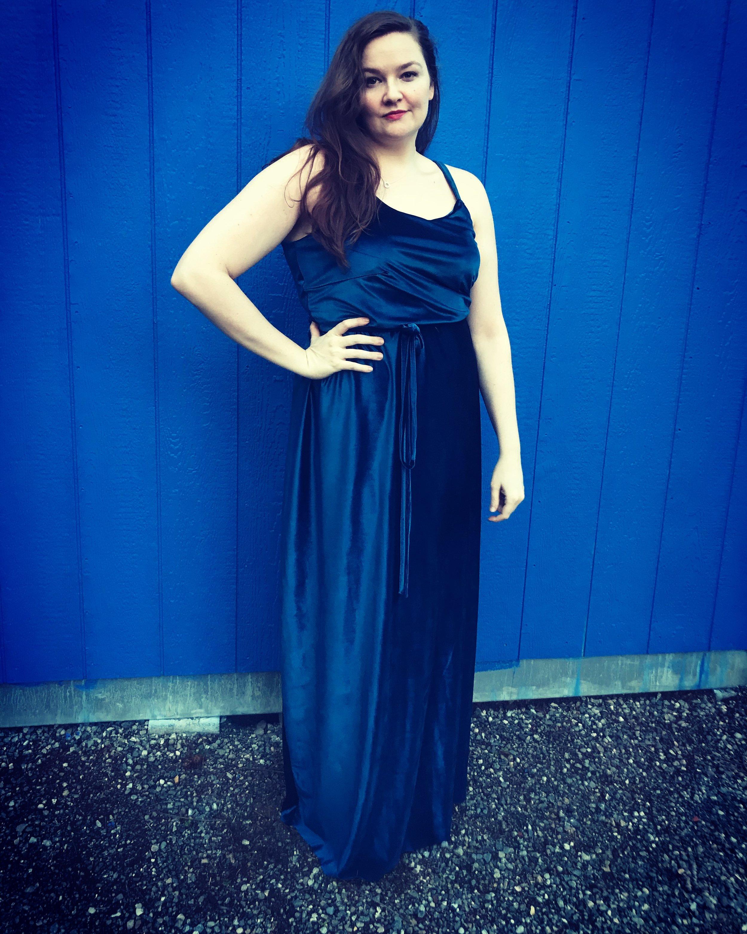 Blue Velvet Gown