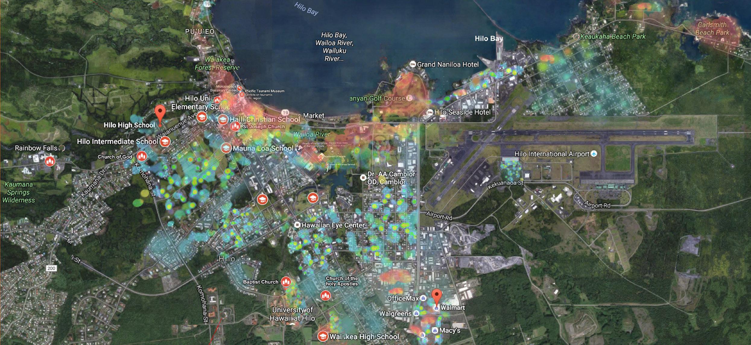 Hilo Weekend Heatmap