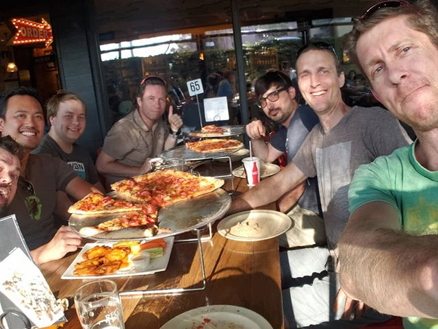 Mini Tour d'Expresso challenge reward. 50 miles each for some pizza and beer. #worthit @expressobike