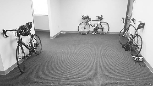 We're running out of parking spots. #bikecommute