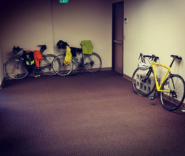 Bike to work day. @bikesd #rain