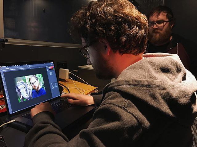 Graphics Producer @willlupi creating a last-minute OTS about a guy who is an elephant pervert 🐘  @brianmfartland was not happy 👀 Full ep in comments 👀 . . . . . #asterisk #thenewsasterisk#satiricalnews #satire #politics #femalecomedian #femalecomedywriters #chicagocomedy #chicagofilm #chicagofilmmaker #womenincomedy #politicalcomedy #latenight #chicagoimprov #graphicsdesigner #graphicdesign #visualgraphics #secondcity
