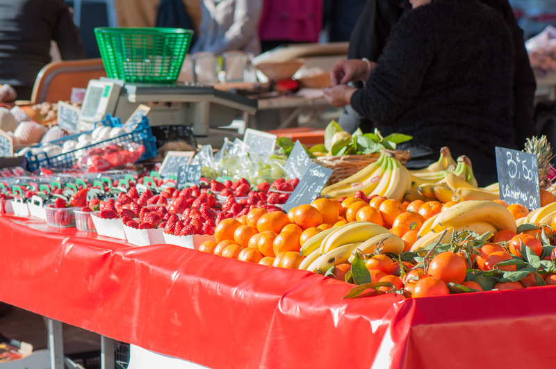 The most beautiful farmers market in the world: Cours Saleya in Nice, France