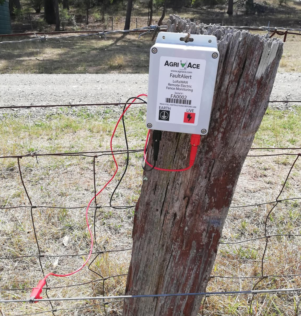 AgriAce Fault Alert device installed within the field.