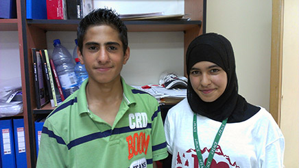 Mohammad and Amina are classmates both at camp and at school. They are in the Grade 9 class. Amina's favorite class has been Music, and Mohammad's favorite has been Tourism. They both like the opportunity to interact with camp counselors from a variety of countries and backgrounds. Amina wants to be a singer and Mohammad wants to be a politician.