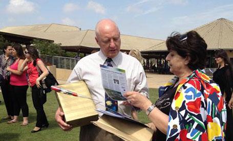 Superintendent of WBAIS, John Gates, and    Principal of Na'amat Nazareth, Nadera Tannous