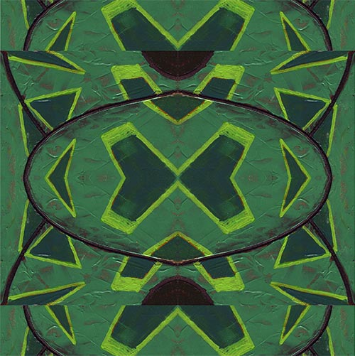 Composition in green
