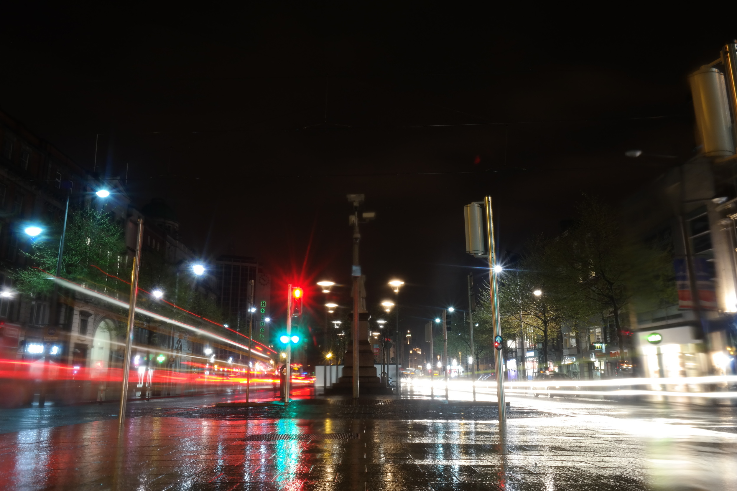 O'Connell Street in the rain
