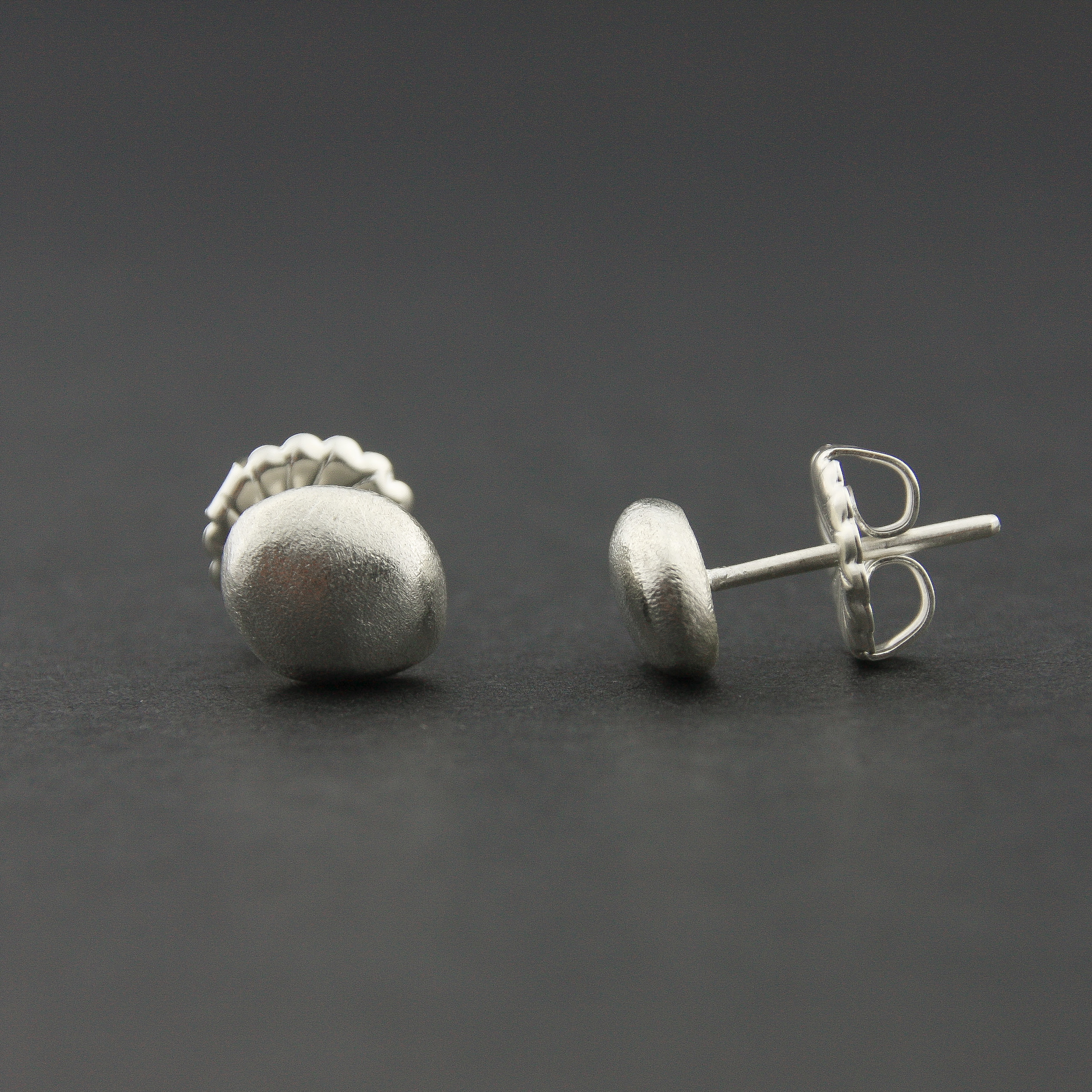 Leonie Simpson Jewellery pebble studs sterling silver