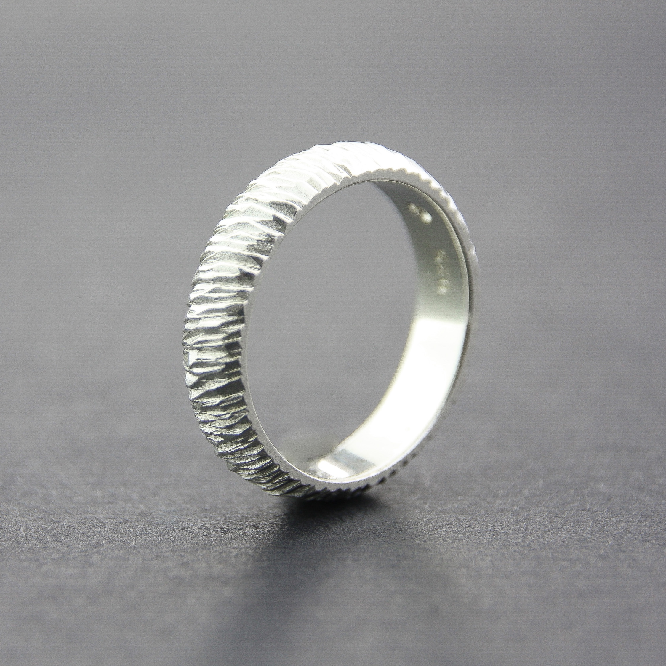 Leonie SimpsonJewellery  Mini Facet Ring 5mm sterling silver