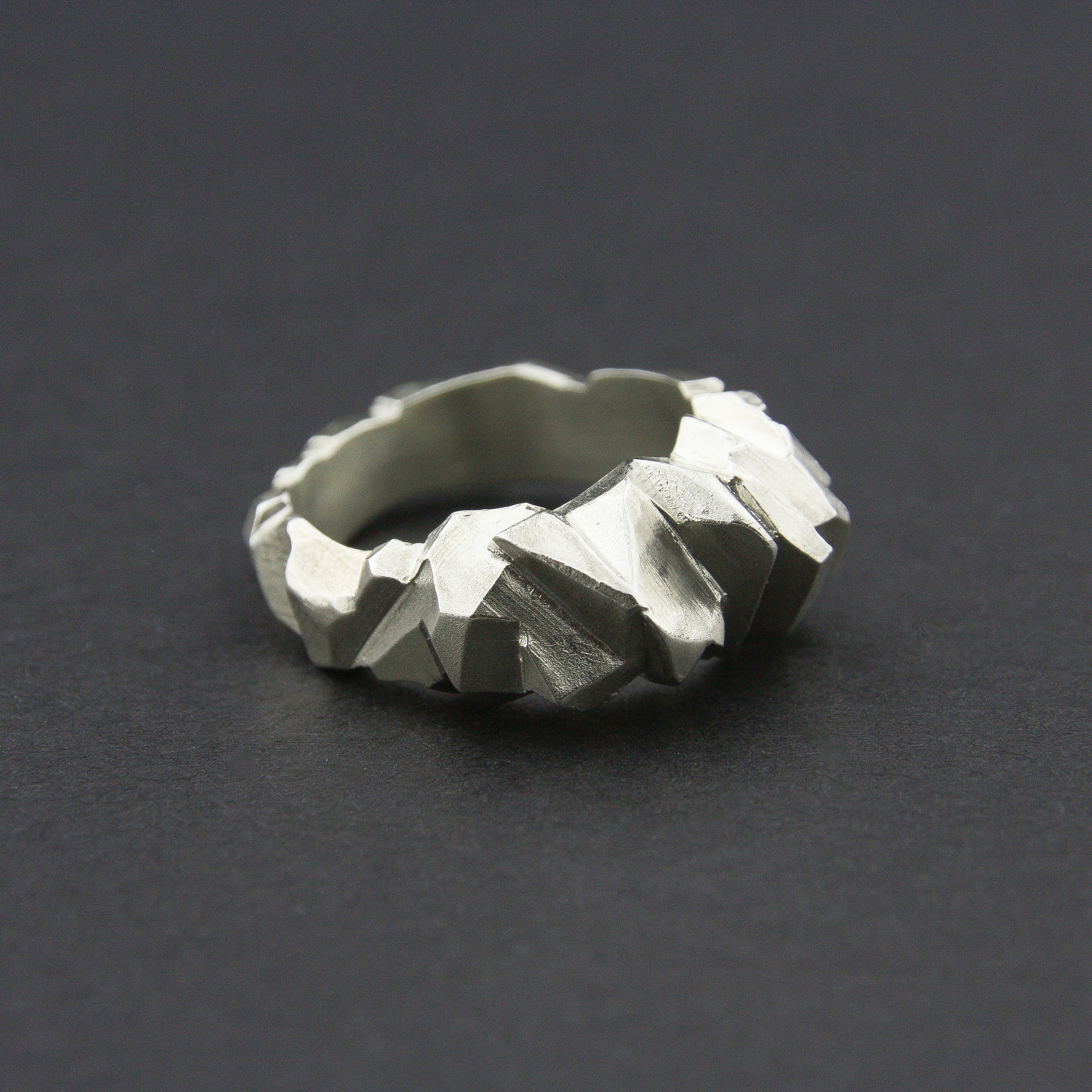 Leonie Simpson Jewellery Facet Ring sterling silver