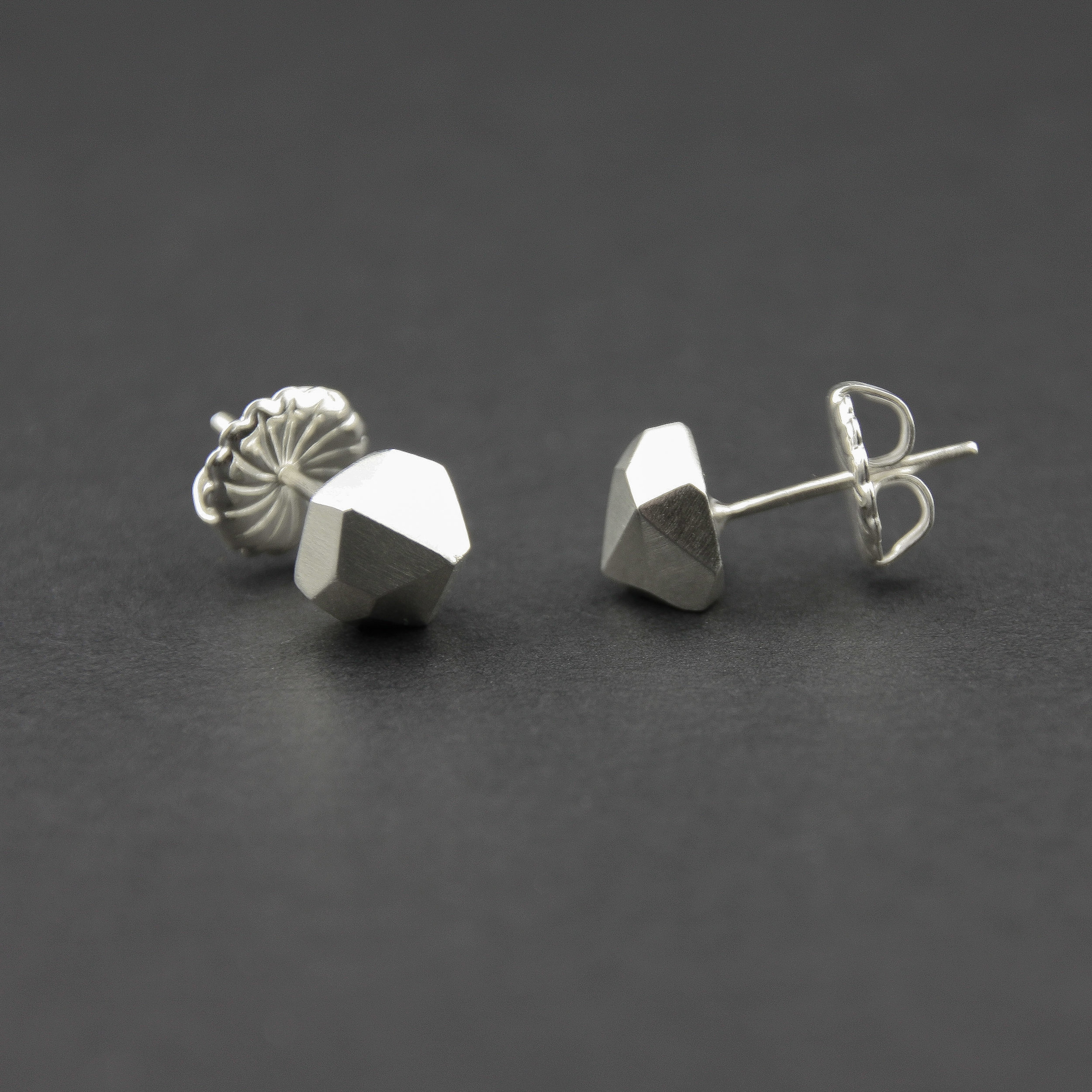 Leonie Simpson Jewellery Large Facet Studs sterling silver