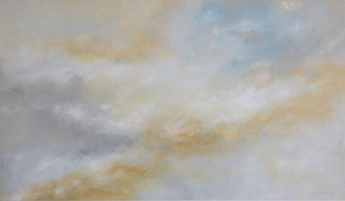 Ode à la vie (2016) acrylique et huile sur toile 100 x 180 cm  collection privée