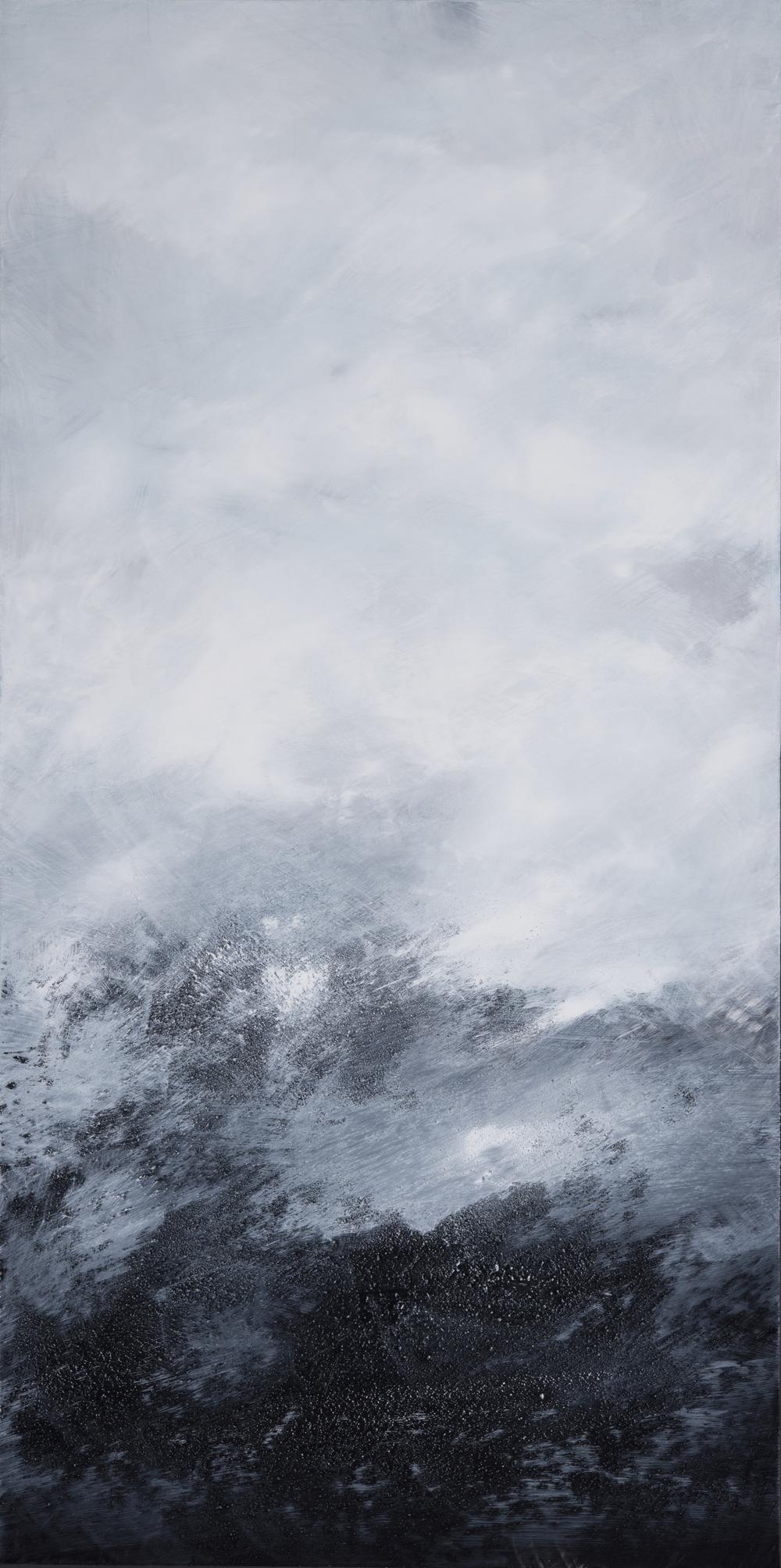 Comme un souffle (2016) acrylique et huile sur toile 120 x 60 cm  Collection privée