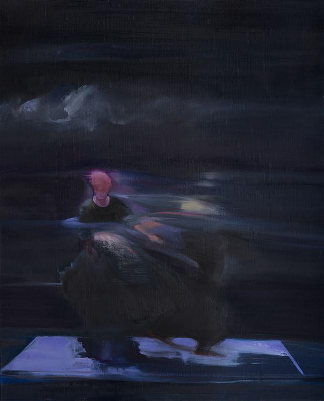 Dernière valse huile sur toile 100 x 81 cm