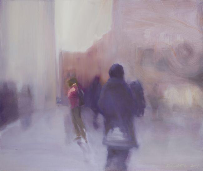 Foreigner huile sur toile 46 x 55 cm collection privée