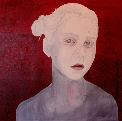 Dentelle_ 80_80cm oil on canvas.JPG