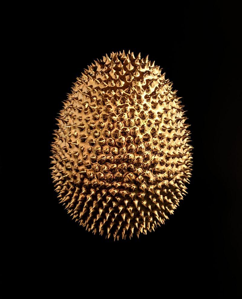 Forbidden Fruit Procelain and Bronze 16 x 13 x 13 cm