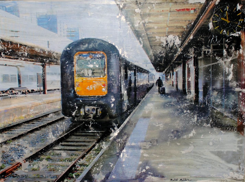 Gare de Lille Flandres technique mixte photographique 60 x 80 cm