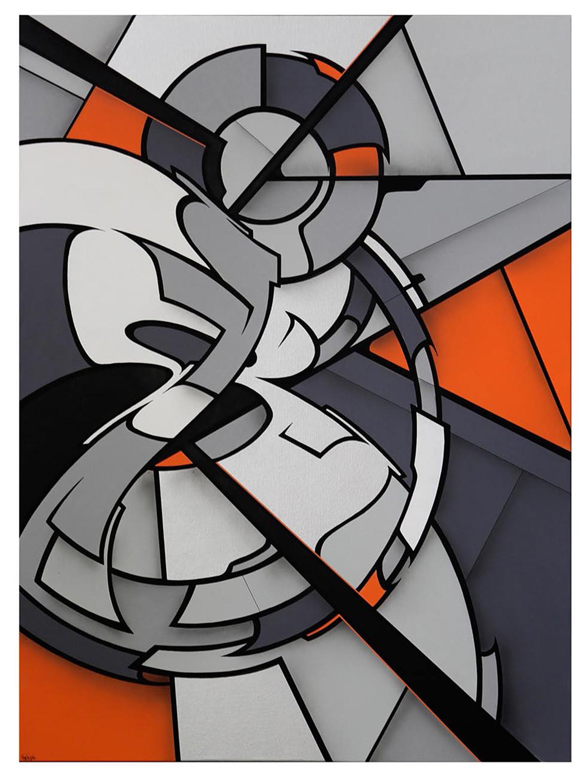 GMTRK-20 acrylique et aérosol sur toile 130 x 97 cm