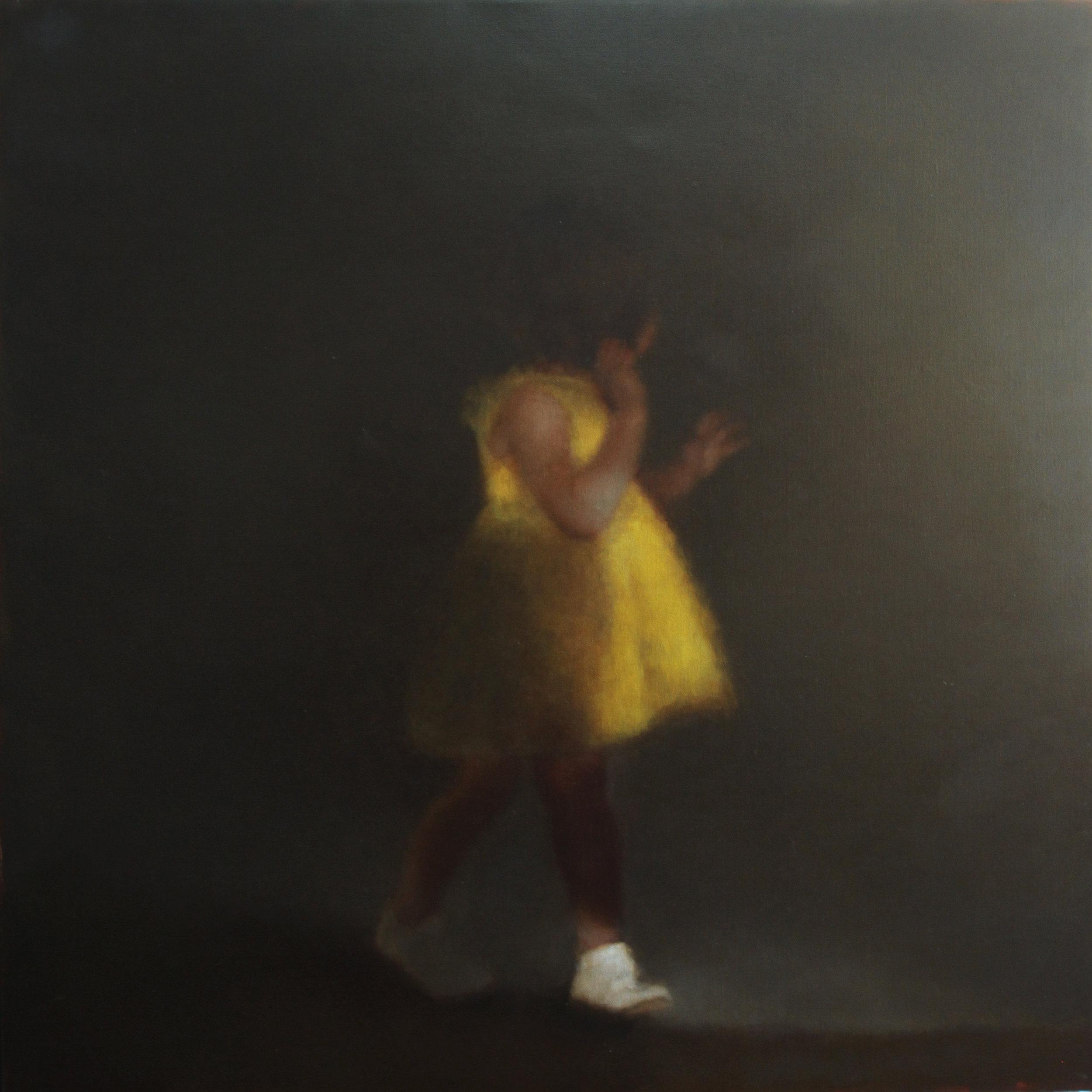 La robe jaune (2017) huile sur toile 110 x 110 cm