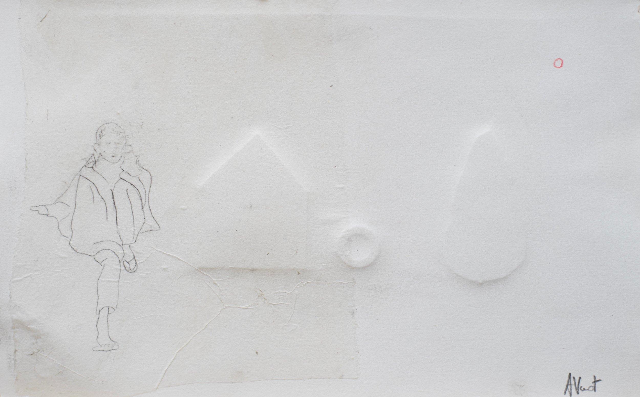 N16 technique mixte/gaufrage 27X38