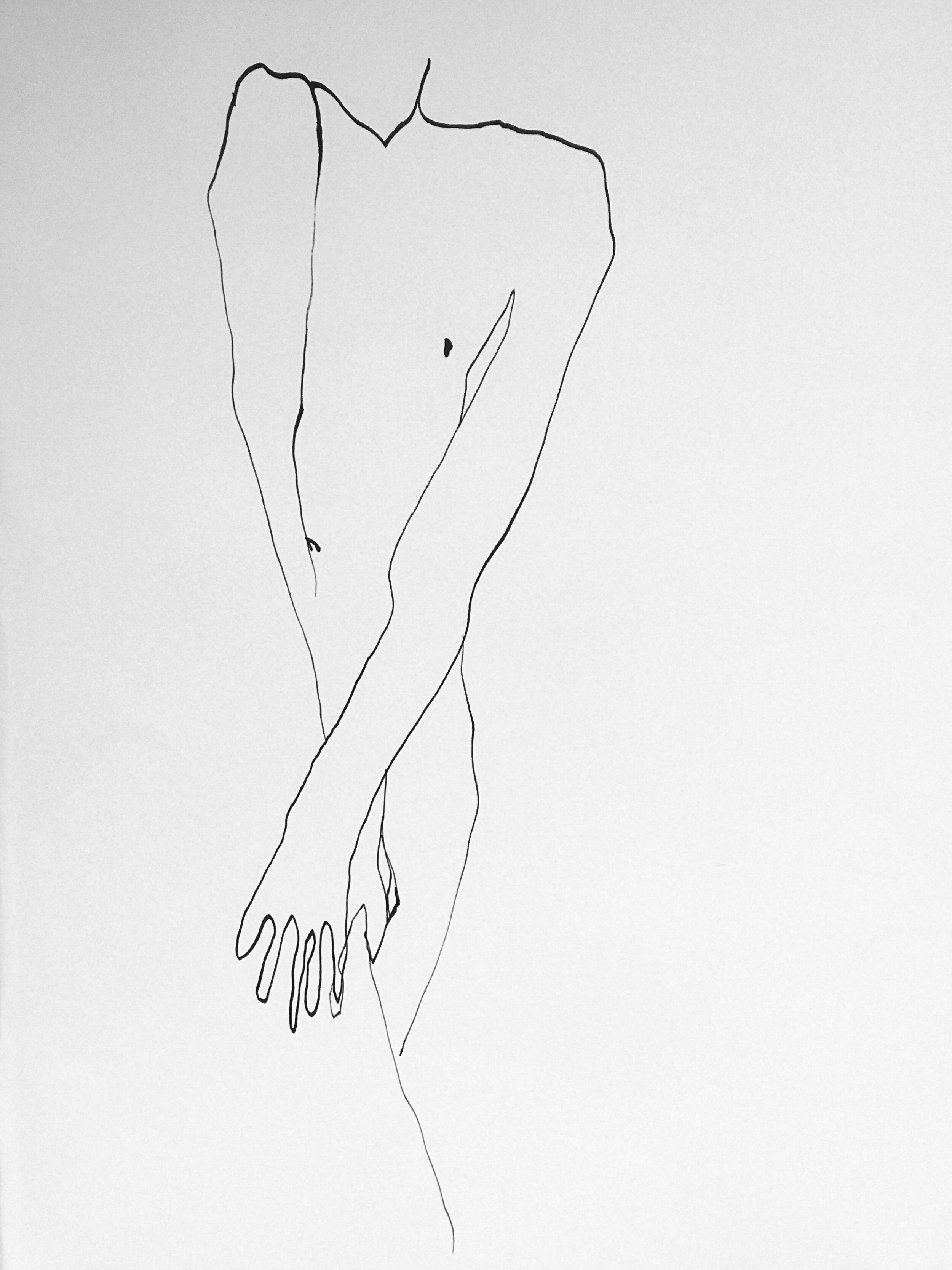 Linda (2019) Encre de chine sur papier 50 x 65 cm