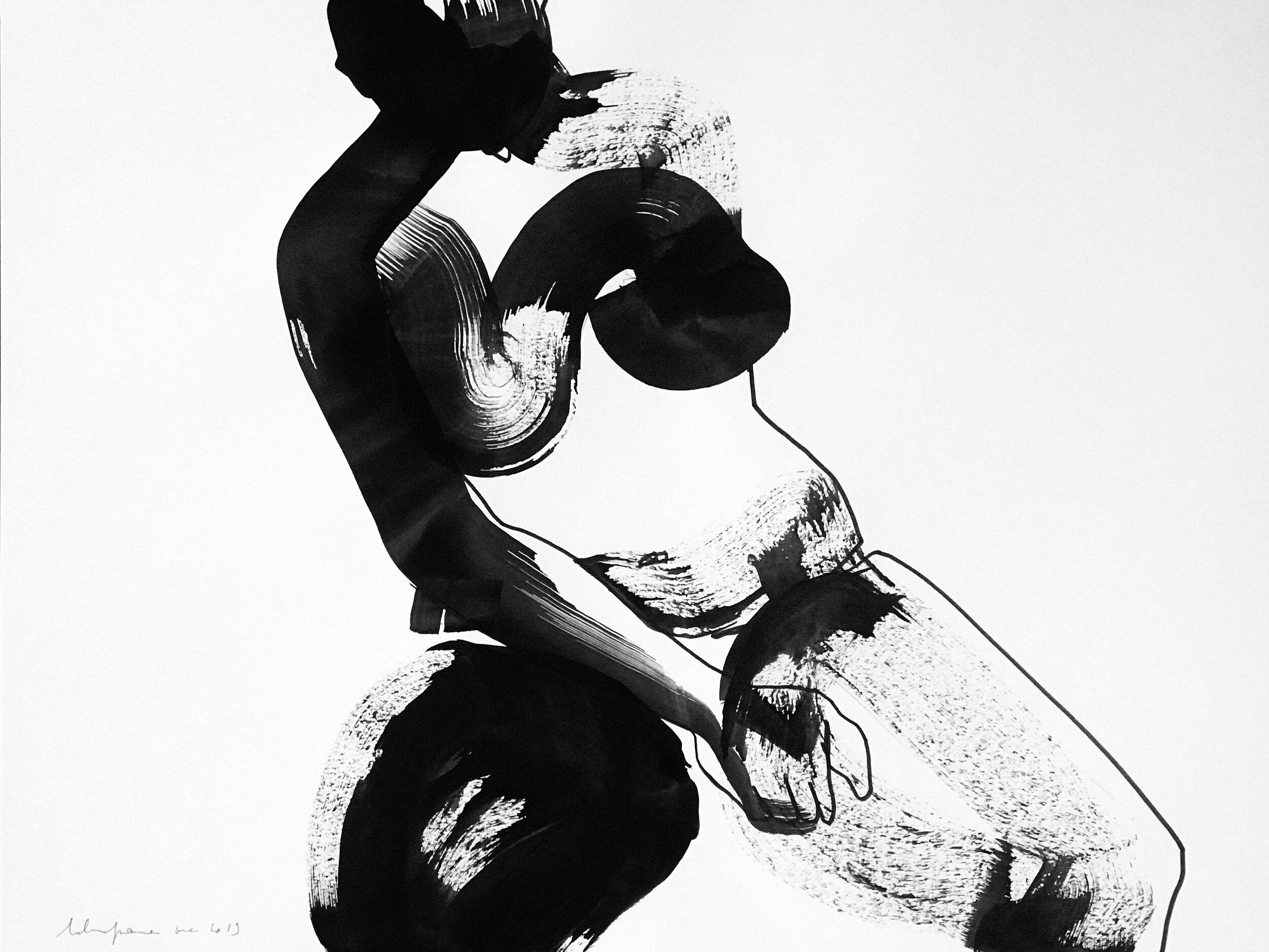 Sophie (2019) Encre de chine et feutre sur papier 65 x 50 cm