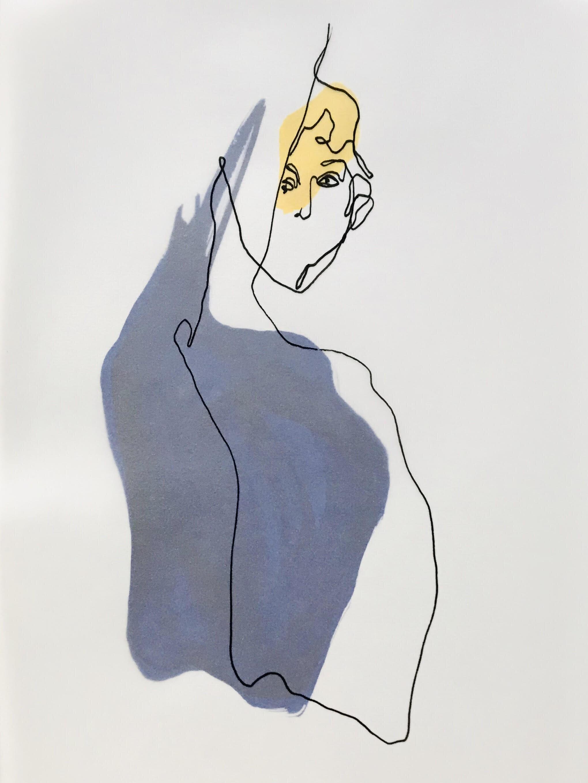 Sans titre (2019) 21 x 29,5cm Encre de chine sur papier et feutre sur papier calque