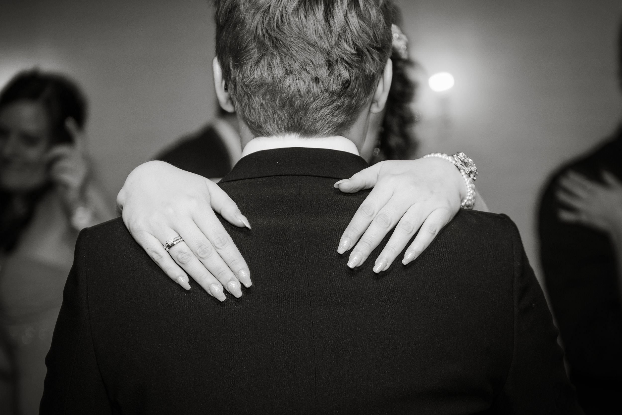 Ring detail during first dance Stavanger wedding Guillem Cheung Bryllup