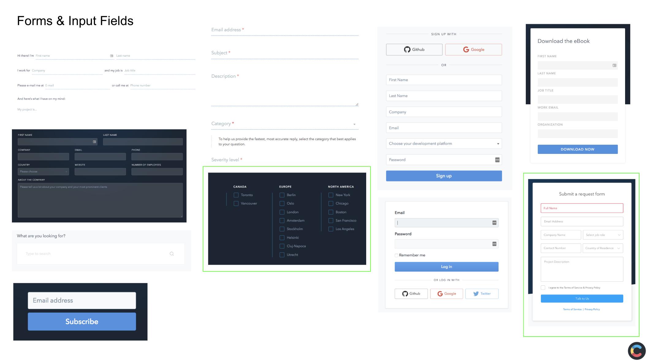 UI Audit: Inconsistent form styles
