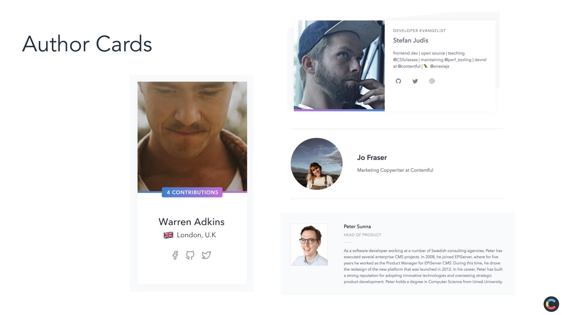 UI Audit: Inconsistent Author Cards