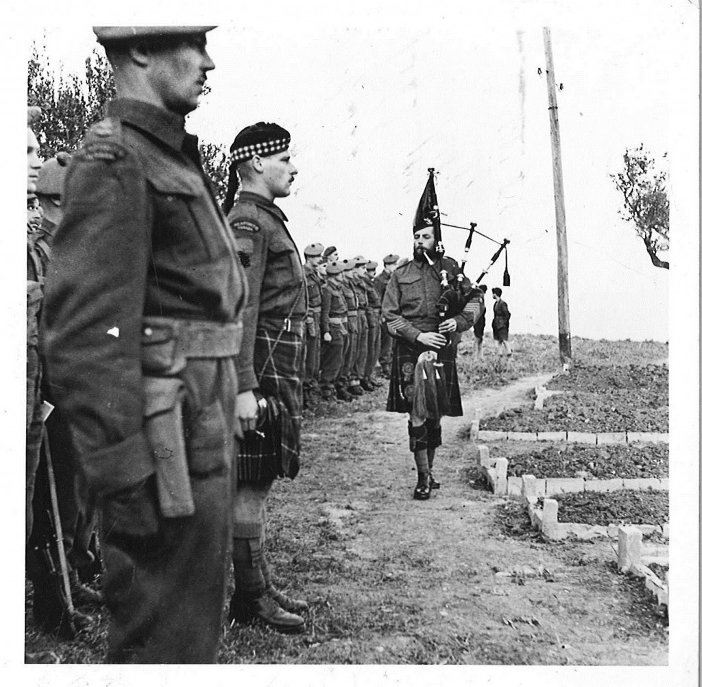 Funeral Service after Ortona, 1944