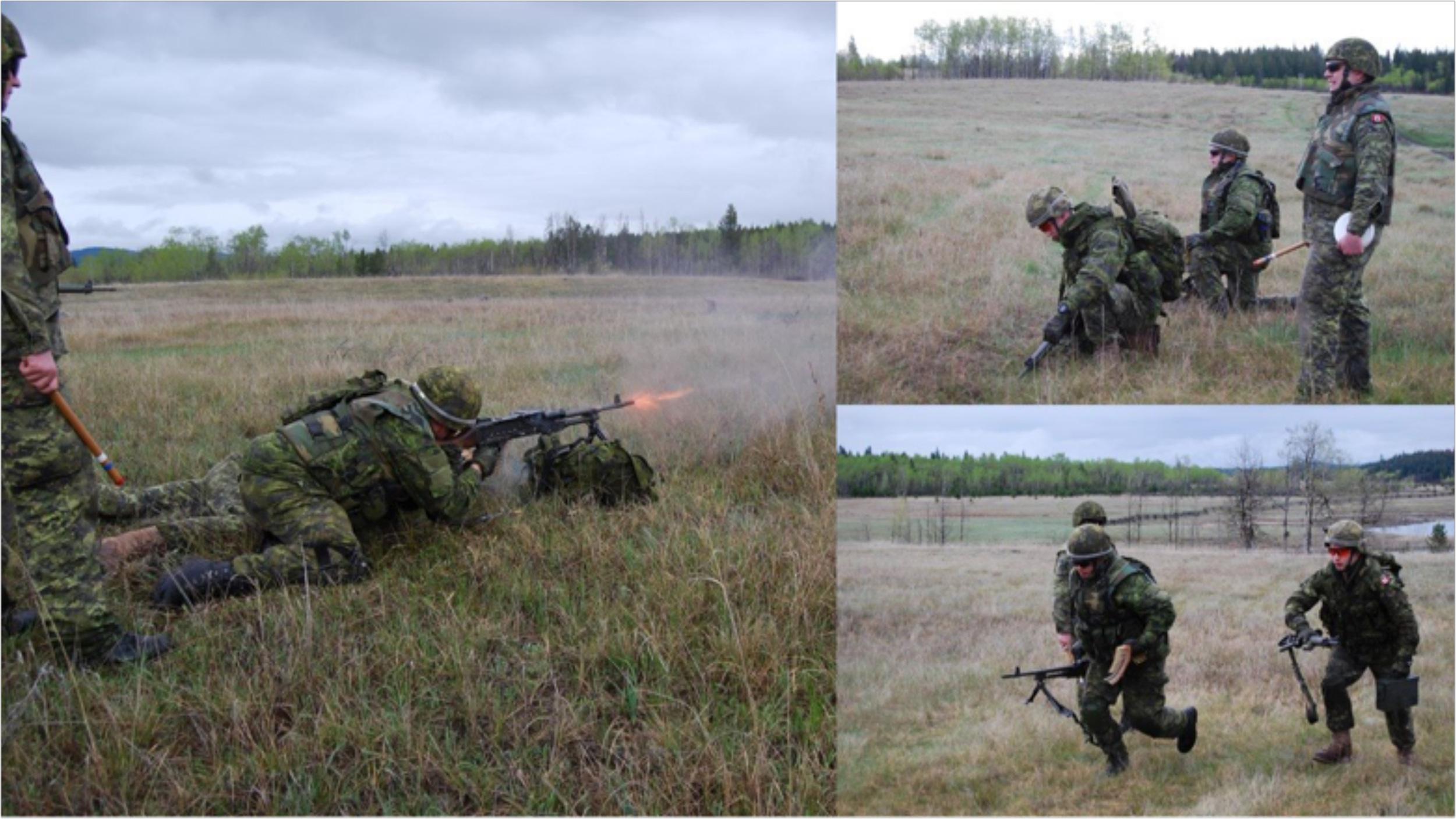Seaforths firing the C6 machine gun.
