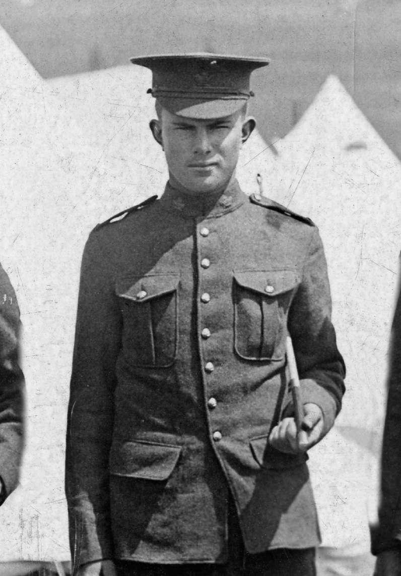 Lieutenant Desmond Odlum Vicars, in the uniform of the 11th Canadian Mounted Rifles in 1915, before joining the 72nd Battalion.