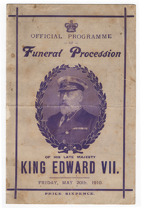 Procession for King Edward VII.