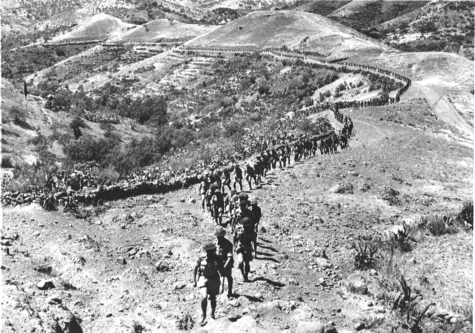 Sicily 1943: the island has been captured, and Lieutenant-Colonel Hoffmeister leads the regiment cross-country to a Brigade Inspection by General Sir Bernard Montgomery
