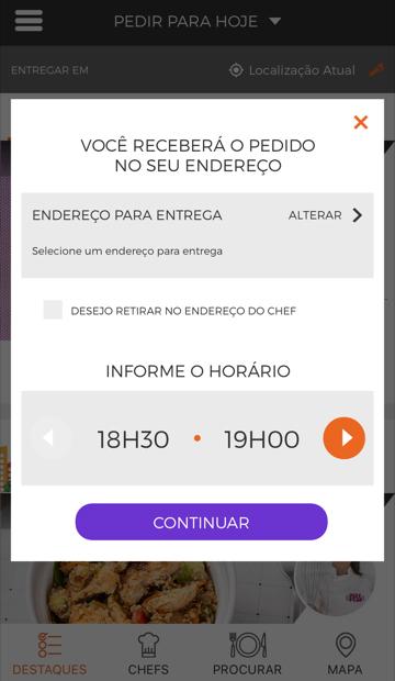 aplicativo apptite horarios