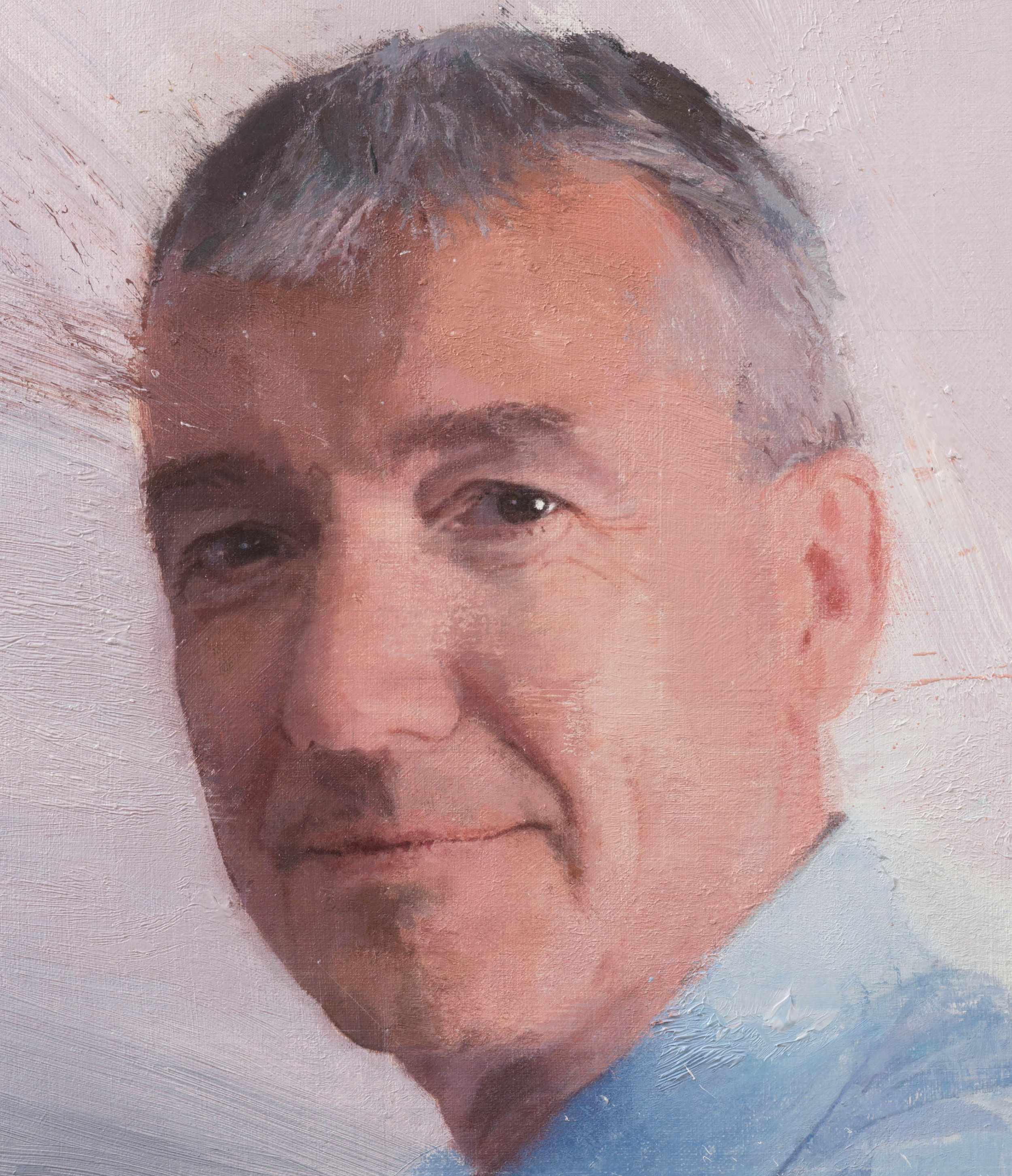 Detail of the final portrait of David Nish