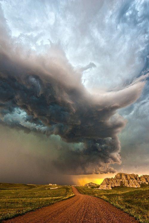 Badlands Spring Storm by Rich Brauhn