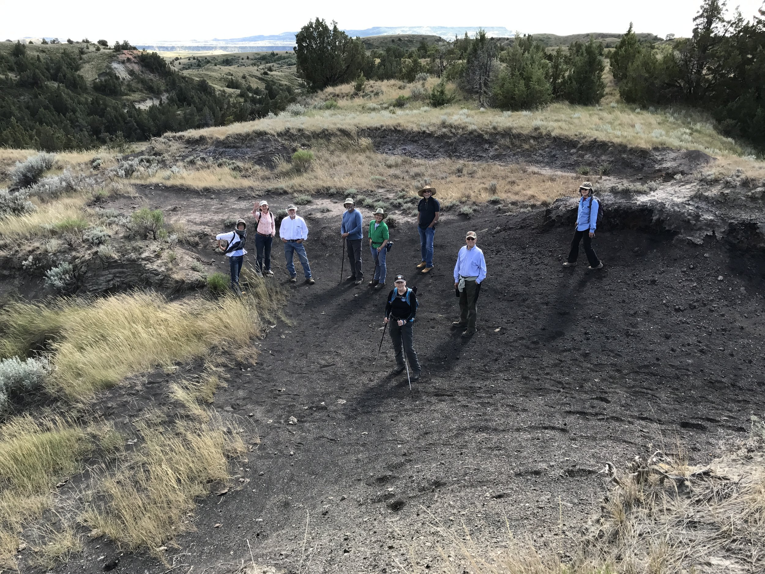Some of the gang exploring at Loey Butte.