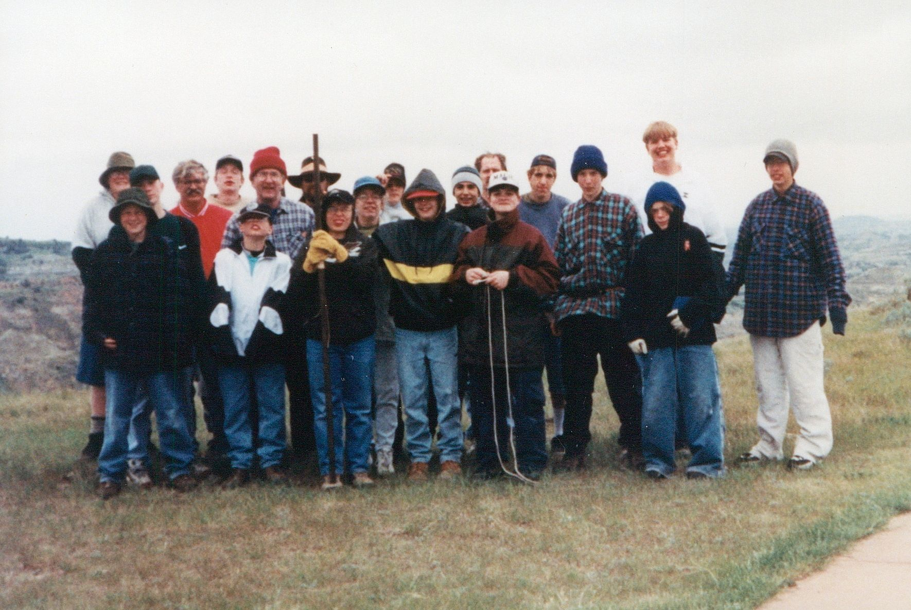 Tom Dahle and Boy Scouts Painted Canyon June 1998.jpg
